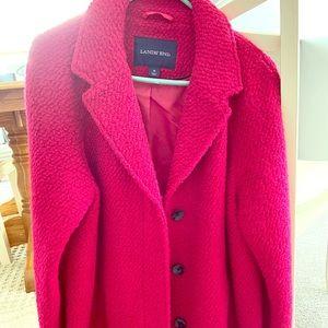 Fushia coat by Lands End